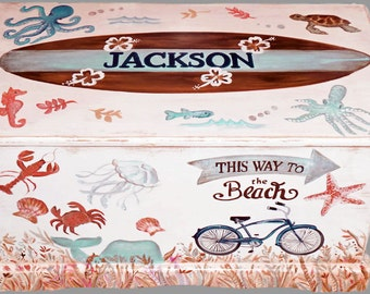 Ocean  Themed Toy Box Custom Designed