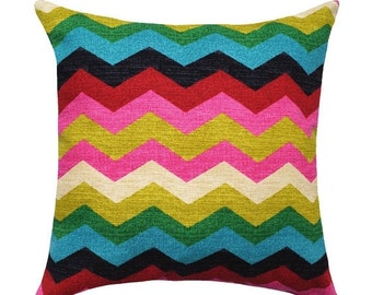 Panama Wave Desert Flower Double Sided Decorative Throw Pillow - Chevron Throw Pillow - - Free Shipping