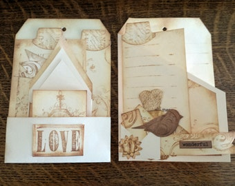 Large Art Tag Collage Assemblages Set 6