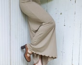 Reserved For Annelise - SAMPLE SALE - Size S/M - Organic Full Length Pencil Skirt - Color Olive Brown/Khaki - Ready to Ship - Maxi Length