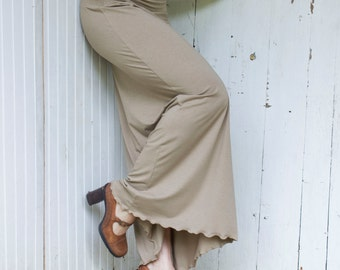 Organic Full Length Pencil Skirt - Eco Fashion - Choose Your Color - Maxi Skirt - Made to Order