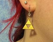 Tri Gold Plate & Swarovski Crystal earrings