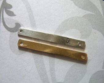 Shop Sale. 1 5 10 pcs, Stamping BAR Charm Pendant, 26x2.7 mm, Sterling Silver or 14k Rose / Yellow Gold Fill Bar Wholesale, 24 ga, 2hp