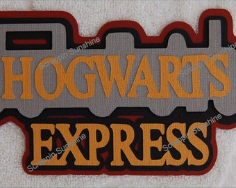 Universal Studios - Harry Potter - Hogwarts Express Train Die Cut Title for Scrapbook Pages