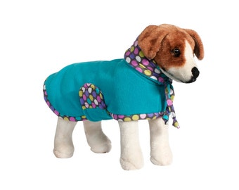 Bliss: Dog Fleece, Dog Fleece Coat, Dog Coat for Winter, Dog Coat with Snood, Big Dog Coat