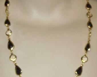 HOT SALE Vintage Demi Parure Necklace Clip On Dangle Earrings Set