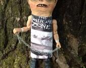 Folk Art Halloween Doll Paper Mache outsider art doll Twilight Zone Freak Doll SALE!