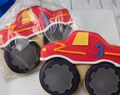 Monster Truck Cookies- 12 Decorated Sugar Cookie Favors