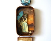Mixed media Altoid tin hanging shadow box fairy assemblage shrine - When Your Ship Comes In