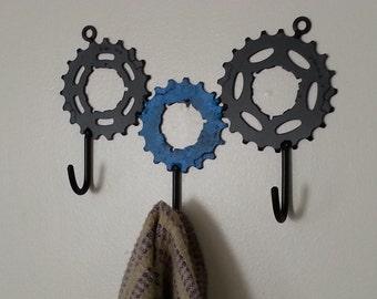 three gear towel/tool hooks