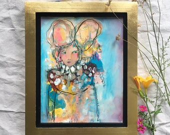 Dance Into The Fire - Framed Original Painting