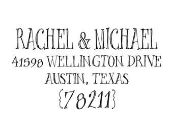 Whimsical Return Address Stamp