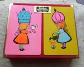 Vintage Duratone Plastic Coated Vintage Playing Cards Full Double Decks 1960s in box