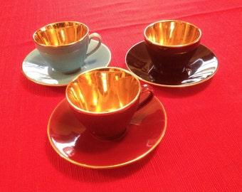 Copenhagon Denmark Confetti Demitasse CUPS WITH SAUCERS