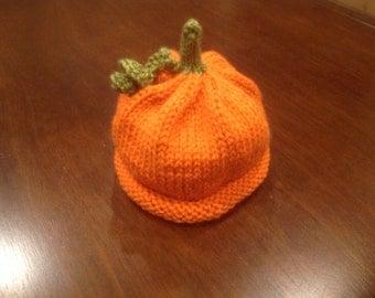 Newborn Pumpkin Knit Hat