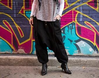 """harem pants modern black woman rock """"Maniac"""""""