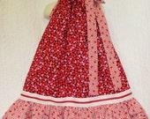 Valentine's Day Dress 4T/5 Hearts Red Pink Black Boutique Handmade Pillowcase Dress Pillow Case Dress Sundress