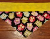 Owl Dog Bandana Double sided Collar Style