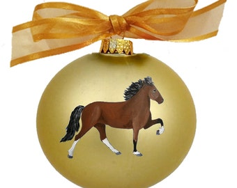 Icelandic Pony Horse Hand Painted Christmas Ornament - Can Be Personalized with Name