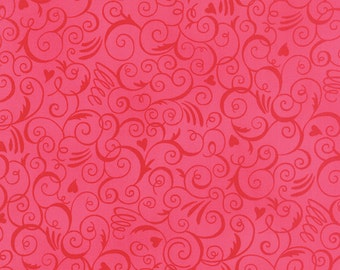 Ever After from Deb Strain for Moda Heart Swirl in passionate pink choose your length