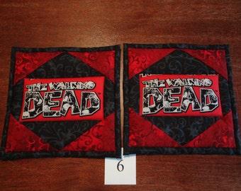 The Walking Dead potholders - pair #6