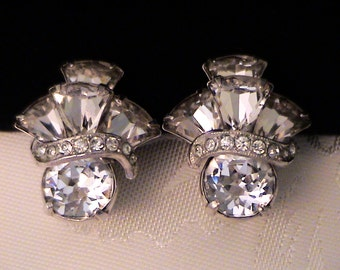 Vintage EISENBERG Crystal Rhinestone Earrings