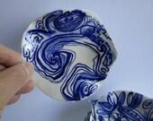 Handpainted Porcelain  Ring Dish