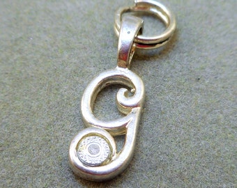Initial G Charm - Sterling