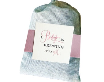 DIY A Baby Girl is Brewing Tea Bag party favor