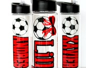 Personalized Soccer Water Bottle, Kids, Customize, Back to School, Gift for Boy Girl Tween Teen, Team Group Discounts