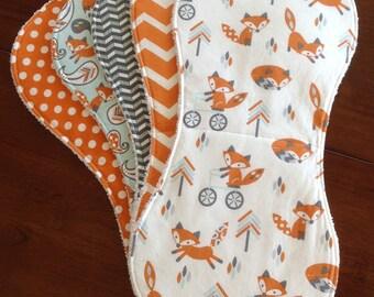 Burp Cloths-Boy Burp Cloths-Woodland Burp Cloth-Burp Rags-Burp Clothes-Baby Burp Cloth-Burp Cloths Etsy-Fox Burp Cloth-Cute Burp Cloths