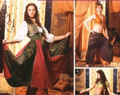 Gypsy or Belly Dancing Costumes - Simplicity 5359 - New Sewing Pattern, Sizes 14, 16, 18, and 20
