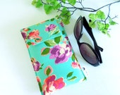 Roomy Sunglasses Case in a Rose Design