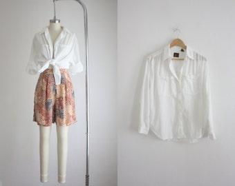 gauzy cotton blouse