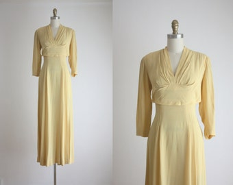 1940s buttercream gown