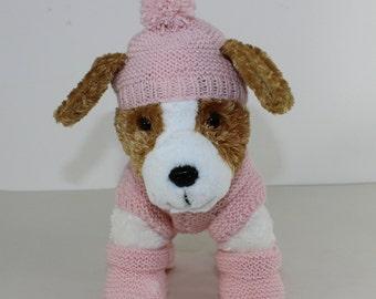 madmonkeyknits - Puppy Kitten Coat Bobble Hat and Booties knitting pattern pdf download - Instant Digital File pdf knitting pattern
