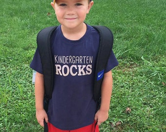 Kindergarten Rocks Shirt, Ink Free, High Quality, Free shipping, click for colors