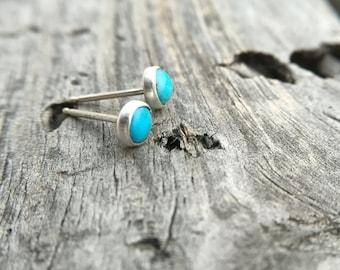 Sterling Silver Turquoise Post Earring Handmade By Joy Kruse Wild Prairie Silver Jewelry