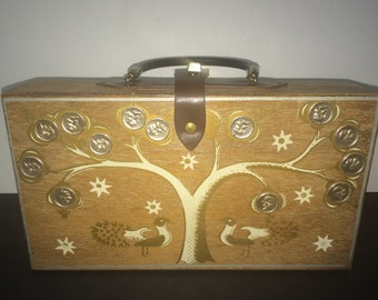 Vintage Wood Box Purse