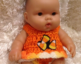 Clothes For 10 and 8  Inch Berenguer/Reborn Dolls.Fall/Halloween  top and bottoms