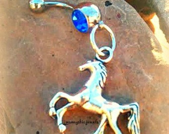 Horse Belly Button Ring,Equestrian CowgirlCounty Western ,Body Trending Jewelry,Country Girls,Rodeo Jewelry,Direct Checkout,Ready to Ship