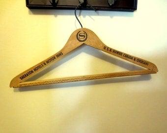 Vintage Wooden Hanger-Sheraton Hotel Wooden Hanger