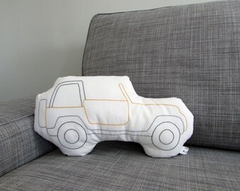 Jeep Shaped Pillow - Soft Toy - BIG - Reserved to C