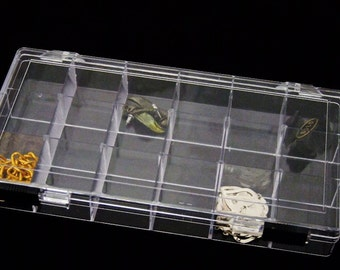 Crystal Clear 18 Compartment Storage Box With Double Slide Locking SALE