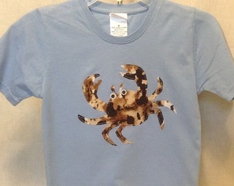 Organic cotton toddler t-shirt designed with Crab