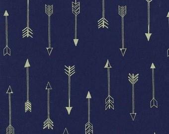 Arrow Flight Midnight Michael Miller Fabric, Choose your cut
