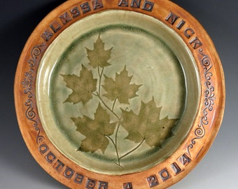 Wedding Plate - Personalized Commemorative Plate - Serving Platter - Wall Hanging - Rustic Home Decor - Wedding Gift - Anniversary Gift
