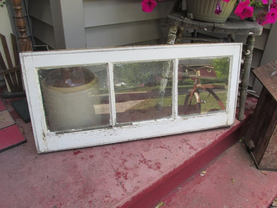 Antique 3 pane basement window some hardware attached for 32x24 basement window