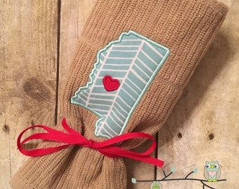 State Love Dish Towel - Choose Any State and City