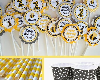 Bee Birthday Party Decorations -  Fully Assembled Decorations